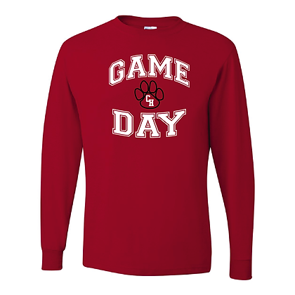 Ladies Game Day Red Long Sleeved Shirt