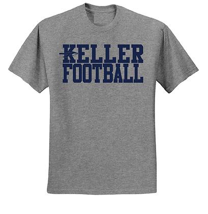 KELLER FOOTBALL- GRAY T-SHIRT
