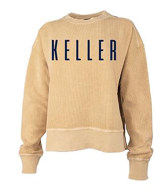 Keller Crop Corded Sweatshirt