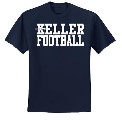 KELLER FOOTBALL- NAVY T-SHIRT