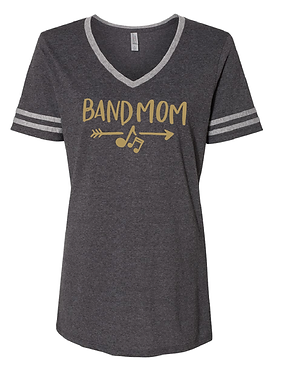 TCHS BAND MOM CHARCOAL STRIPED