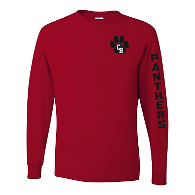 Ladies Long Sleeved Red T-Shirt
