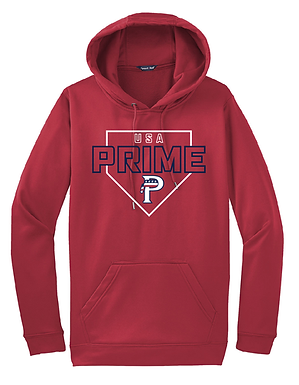 USA PRIME- PLATE HOODIE- RED