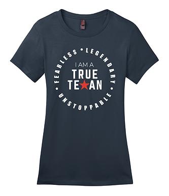 TTP- TRUE TEXAN LADIES T-SHIRT- NAVY