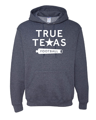 TRUE TEXAS FOOTBALL- HOODED SWEATSHIRT
