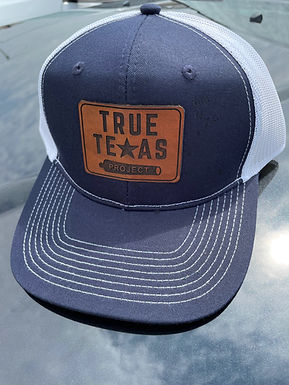 TTP: LEATHER PATCH HAT- NAVY