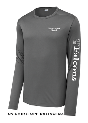 TCHS BAND POSI-UV LONG SLEEVE GRAY