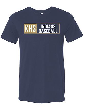 KHS BASEBALL- BOX TEE- NAVY