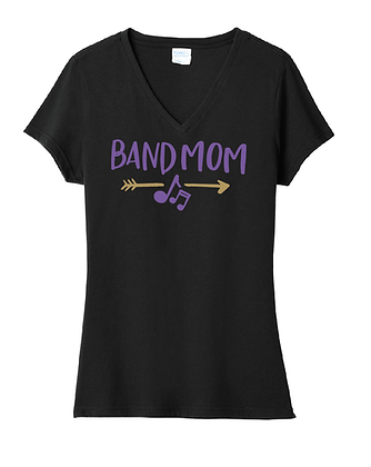 TCHS BAND MOM UNISEX V-NECK BLACK