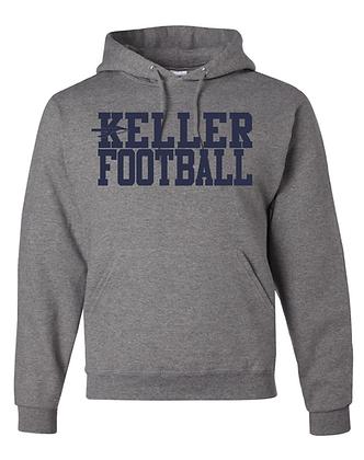 KELLER FOOTBALL- GRAY HOODY