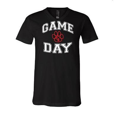 Ladies Game Day Black Short Sleeved Shirt