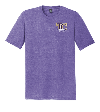 TCHS BAND- SMALL LOGO- PURPLE TEE