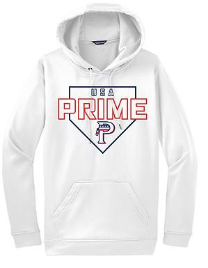 USA PRIME- PLATE HOODIE- WHITE