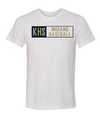 KHS BASEBALL- BOX TEE- WHITE