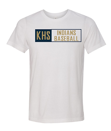 KHS BASEBALL- BOX TEE- WHITE
