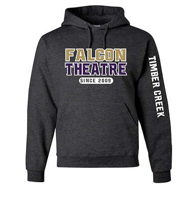 TCHS THEATRE HOODY CHARCOAL