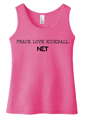 LMK Girls Cut Tank-Pink