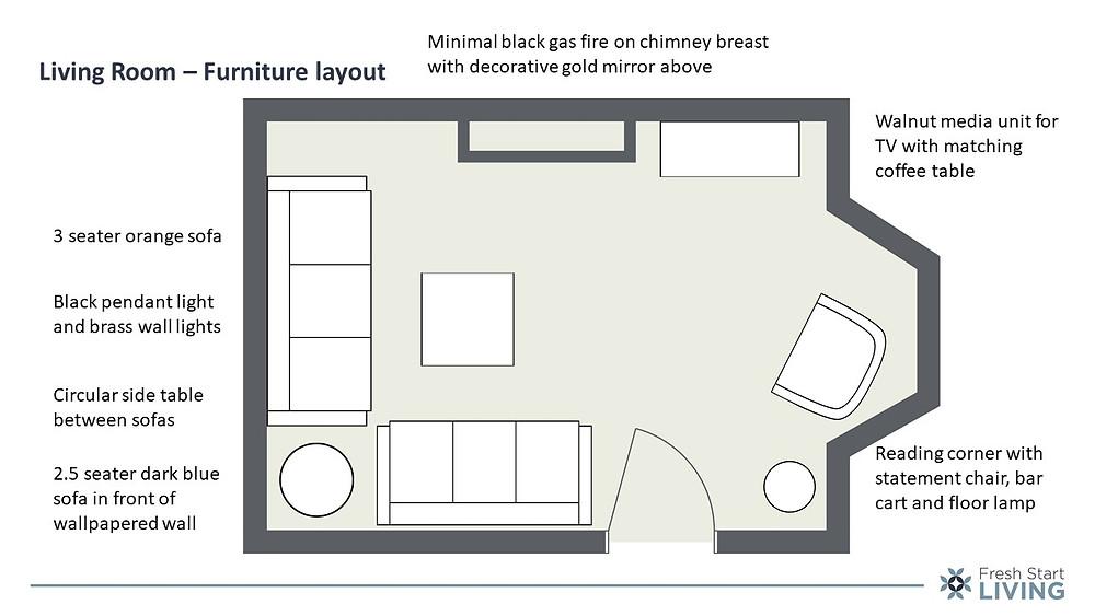 Living Room Layout - Fresh Start Living