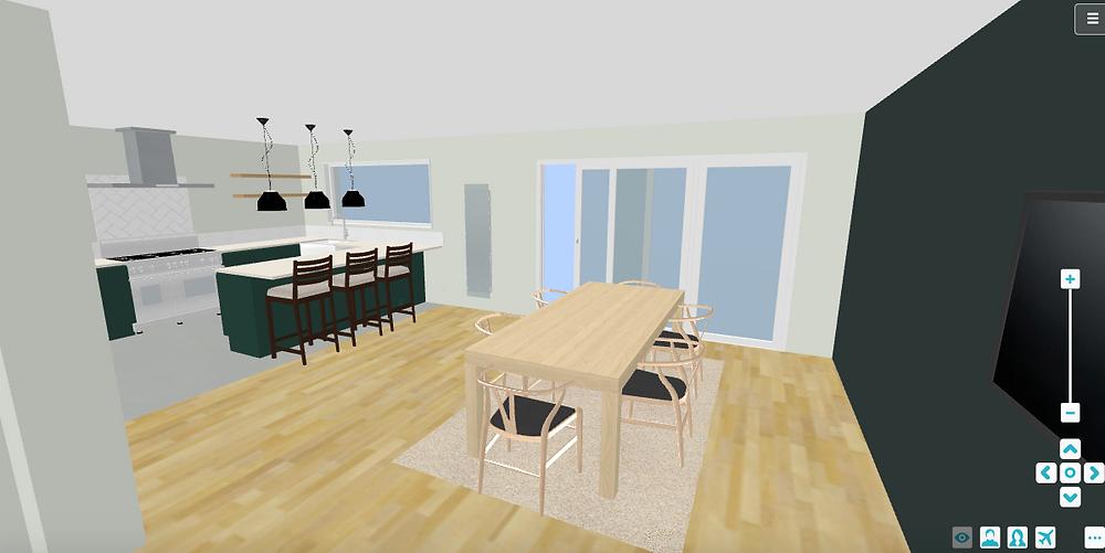 3D Kitchen Diner Design - Fresh Start Living
