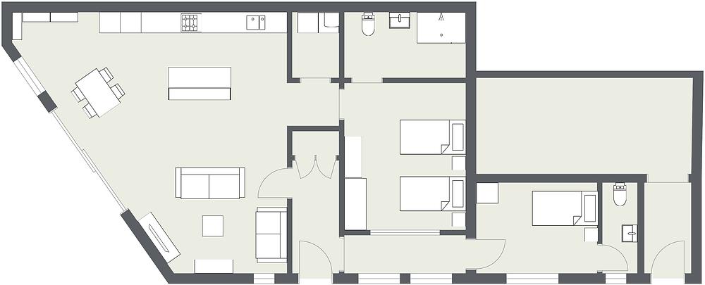 Garage Redevelopment Floorplan - Fresh Start Living