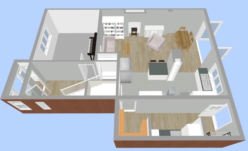 Upstairs Floor Plan - Fresh Start Living