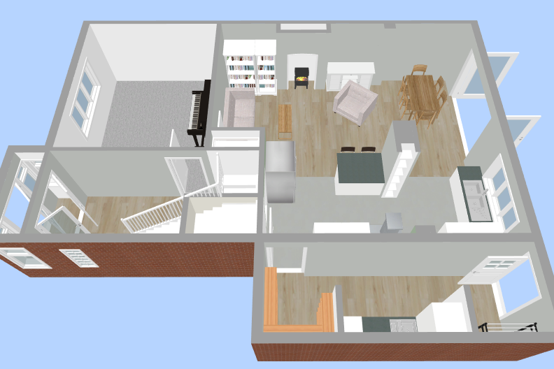 3D Upstairs Layout - Fresh Start Living