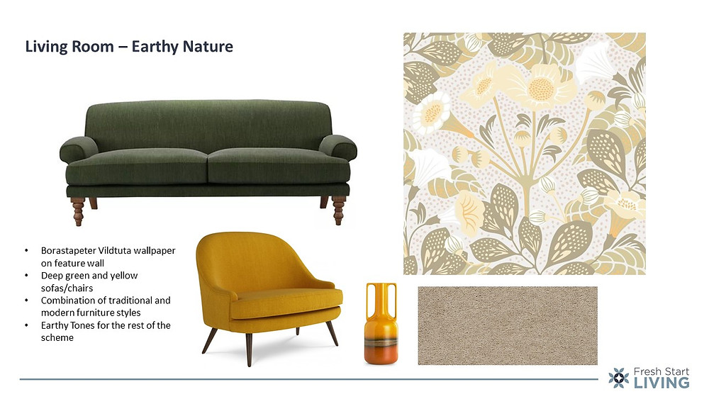 Earthy Nature Interior Design Mood Board