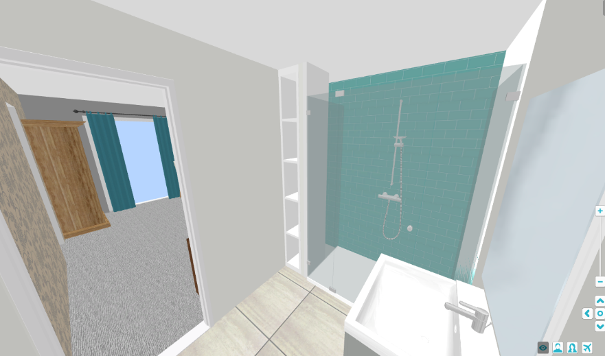Bathroom, Grey and Teal - Fresh Start Living