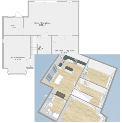 3D Layout For Furniture - Fresh Start Living