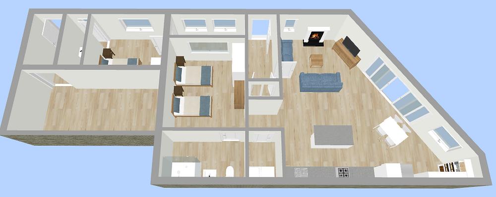 New Garage 3D Plan - Fresh Start Living
