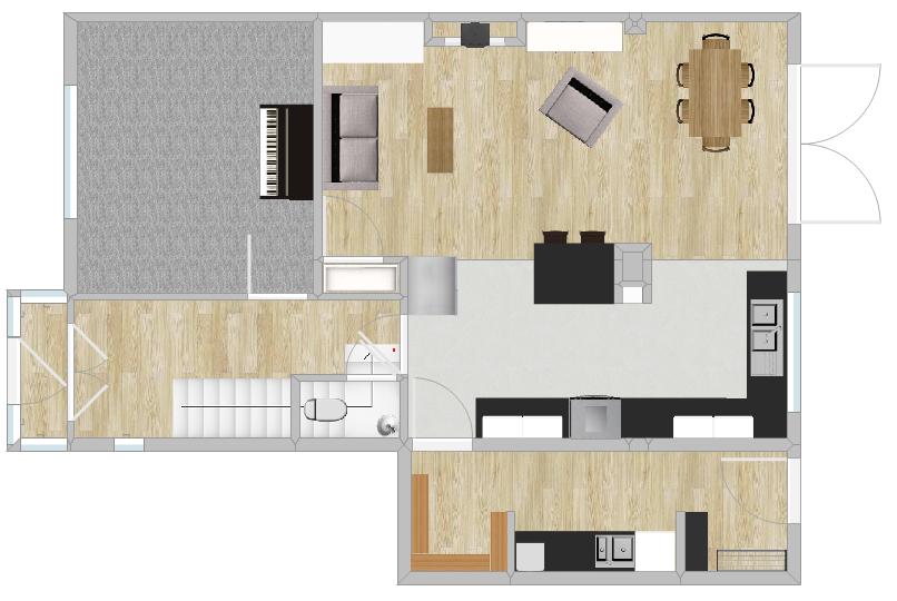 Floor Plan With Side Extension - Fresh Start Living