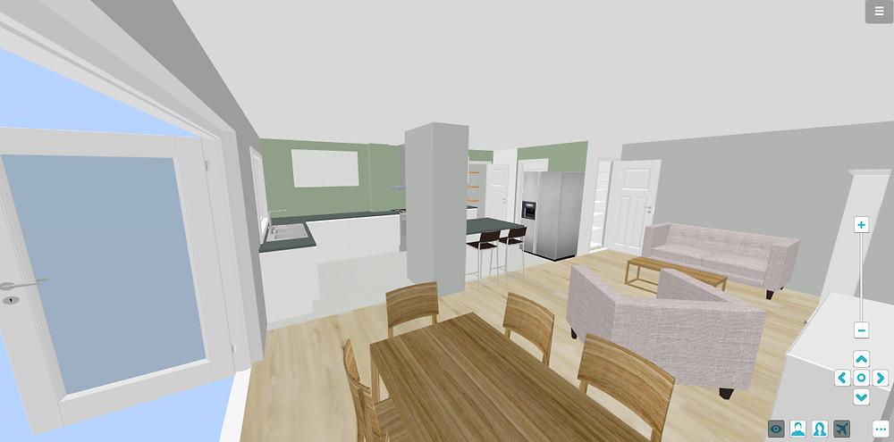 3D Open Plan Visualisation - Fresh Start Living