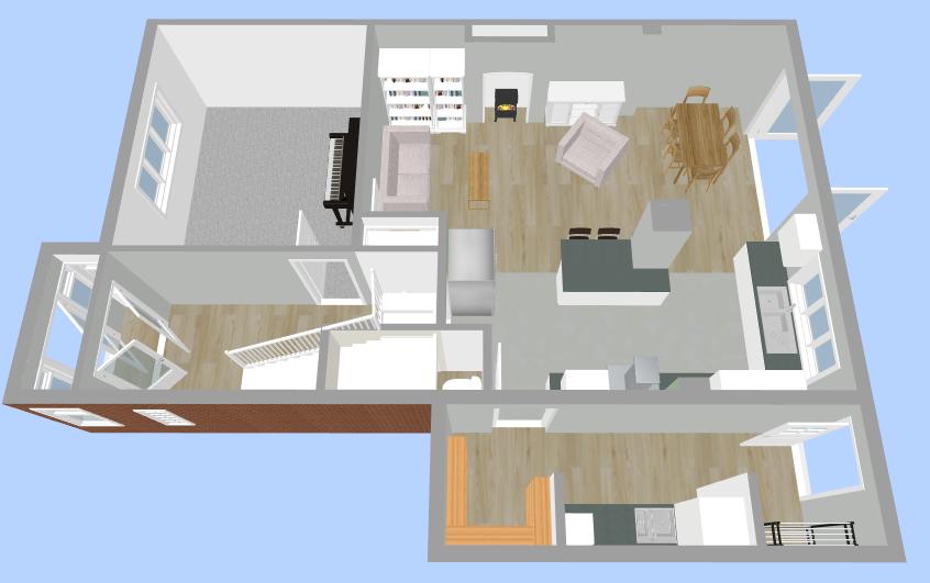 Upstairs Visualisation - Fresh Start Living