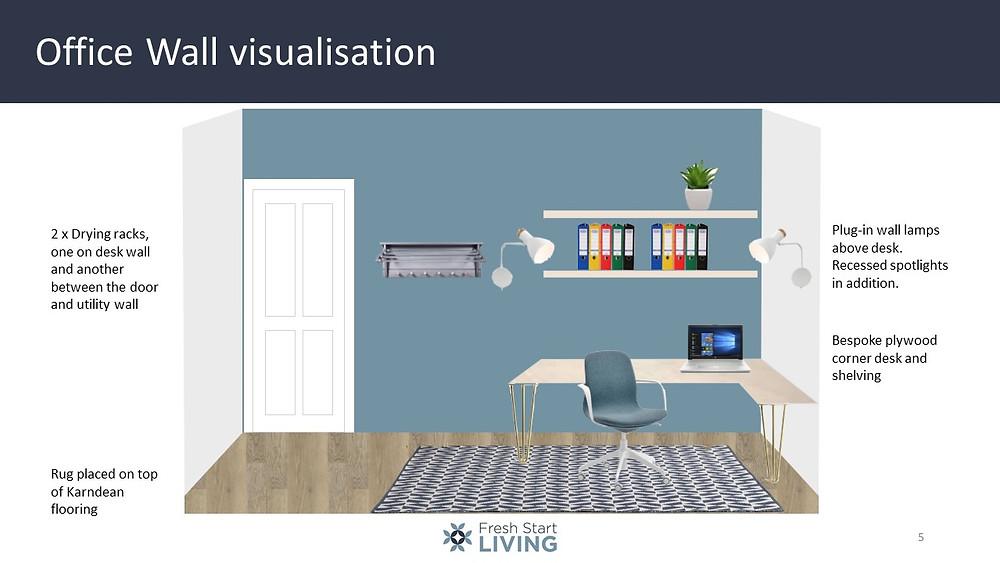 Office Wall Visualisation - Fresh Start Living