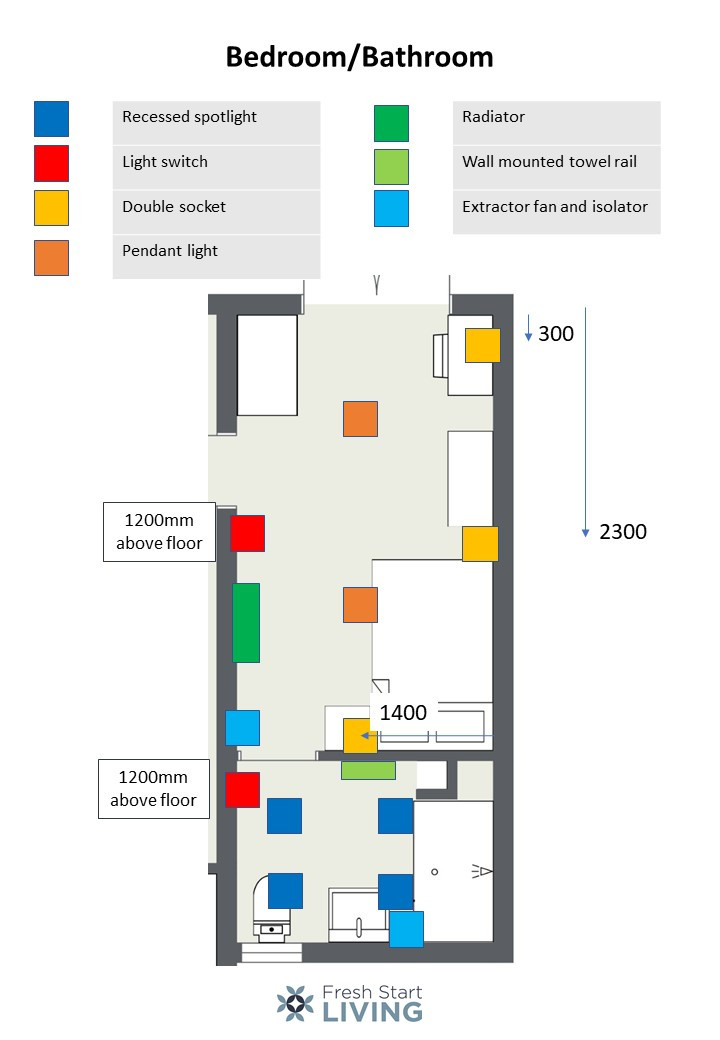 Bathroom/Bedroom Space - Fresh Start Living
