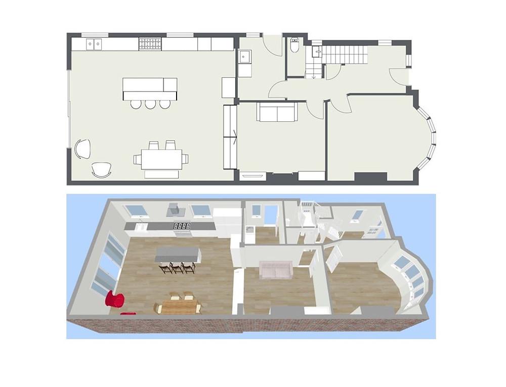 Interior Design Floor Plan - Fresh Start Living
