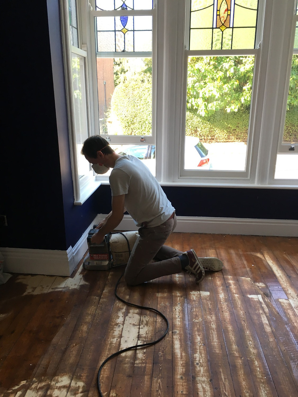 Sanding Floorboards - Fresh Start Living
