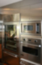 stainless steel, oven, refrigerator