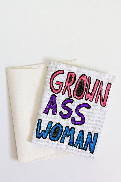 Grown Ass Woman Folded Card