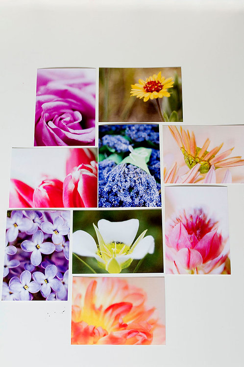 5 x 7 Flat Floral Note Cards (set of 8)