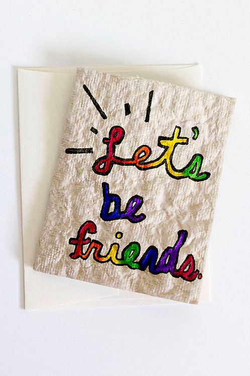 Let's Be Friends Folded Card