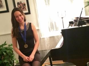 Une pianiste remarquée
