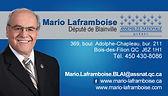 Député Mario Laframboise et la Fondation du Triolet