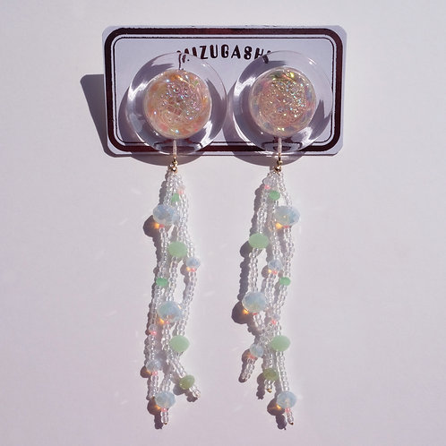 EARRINGS・AURORA × GLAS BEADS