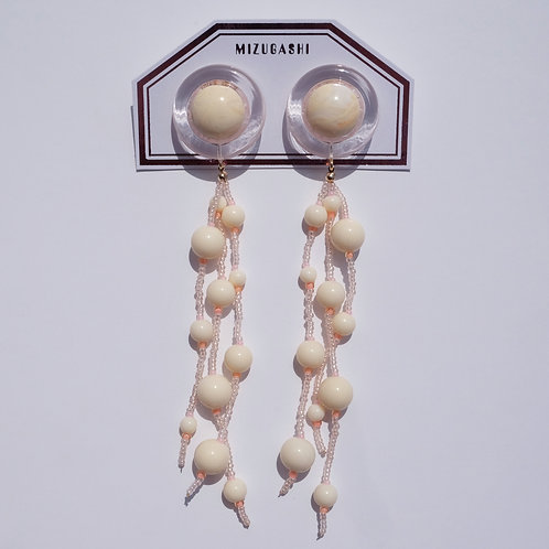 EARRINGS・OFF WHITE × OFF WHITE BEADS