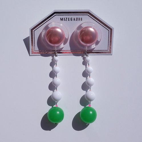 EARRINGS PINK × GREEN