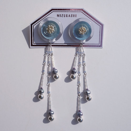 EARRINGS SHELL SKYBLUE
