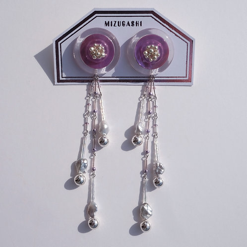 EARRINGS SHELL PURPLE