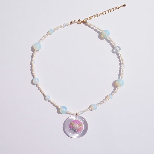 NECKLACE SNOW DOME PEARL 3