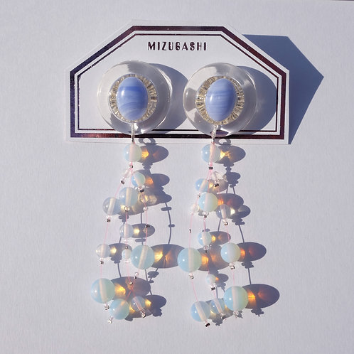 EARRINGS ・OPAL SKY BLUE・
